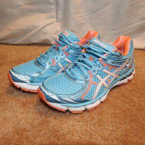 Asics GT 2000 Blue Orange Running Shoes Size 7.5
